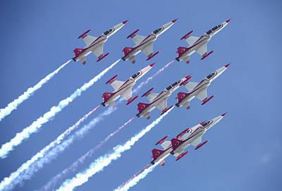 Jet Star Photograph - F-5 Tigers Of The Turkish Stars by Timm Ziegenthaler