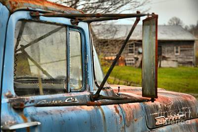 Photograph - F-600 Ford Custom Cab On The Farm by Adam Jewell