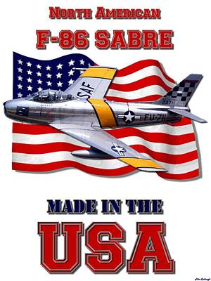 Made In The Usa Digital Art - F-86 Sabre Made In The Usa by Mil Merchant