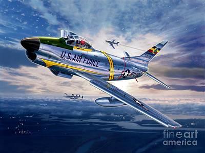 Constellation Digital Art - F-86d Sabre Dog by Stu Shepherd