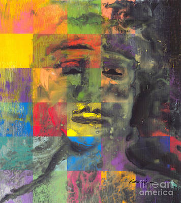 Self-portrait Mixed Media - F-9 by Robert Fennell