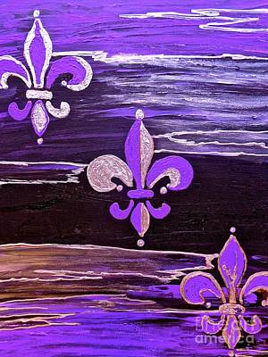 Painting - F D L Forever Purple Abstract by Saundra Myles