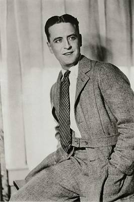F Scott Fitzgerald Wearing A Norfolk-style Jacket Print by Artist Unknown