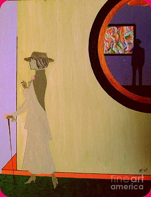 Art Print featuring the painting F Scott Waiting For Zelda by Bill OConnor