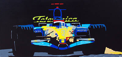 Indy Car Painting - F1 by Bryan Dubreuiel