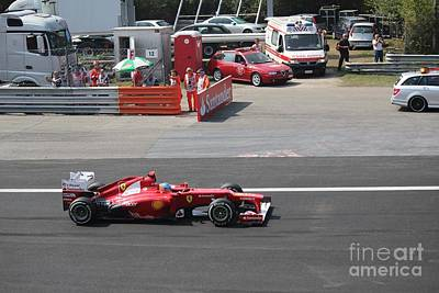 Photograph - F1 - Fernando Alonso  -  Ferrari by David Grant
