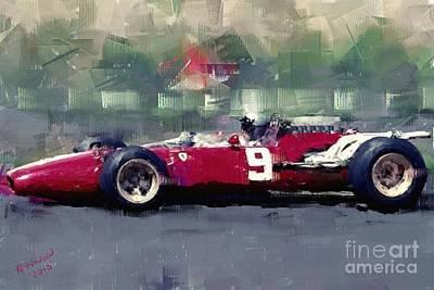 F1 Ferrari - Surtees Print by Arne Hansen