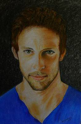 Painting - F1 Jenson Button by David Hawkes