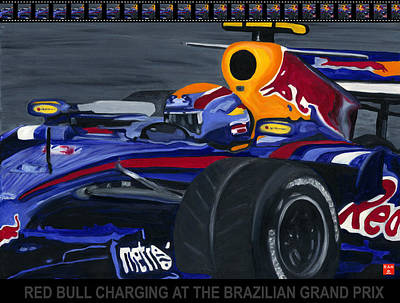 F1 Rbr At The Brazilian Grand Prix Art Print
