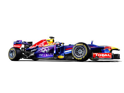 Classic Hot Rod Photograph - F1 Red Bull Rb9 by Gianfranco Weiss