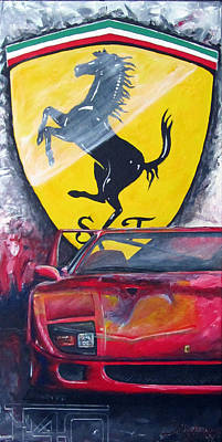 F40 Painting - F40 by Kelly Bremer