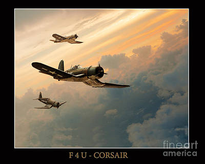 F4u-corsair Art Print by Tony Pierleoni