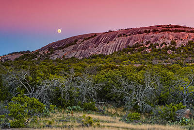 F8 And Be There - Enchanted Rock Texas Hill Country Art Print by Silvio Ligutti