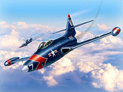 F9f-5p Photo Panthers Art Print