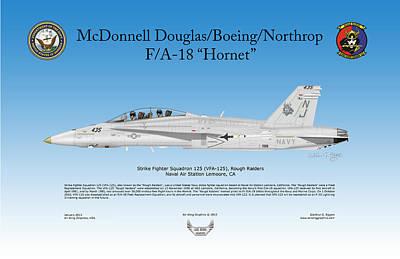 Fa-18 Hornet Art Print by Arthur Eggers