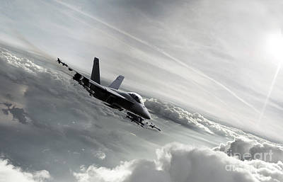 F-18 Digital Art - Fa-18 Super Hornet by J Biggadike