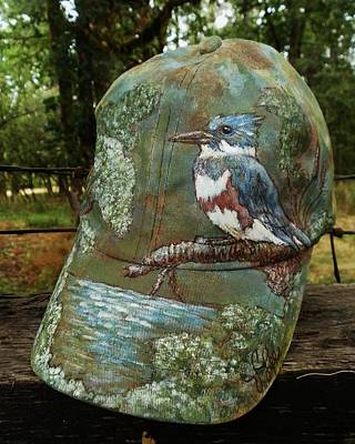Photograph - Fa Kingfisher Cap by VLee Watson