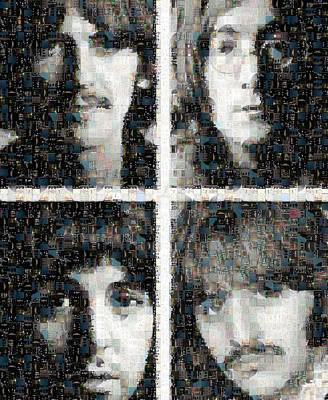 Sergeant Pepper Digital Art - Fab Four Mosaic Image 1 by Steve Kearns