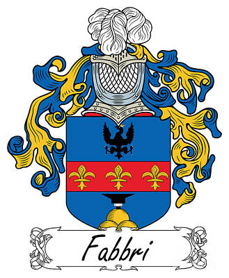 Fabbri Digital Art - Fabbri Coat Of Arms Di Modena by Heraldry