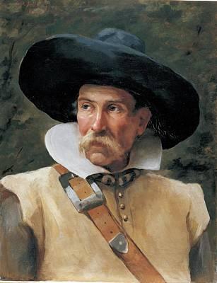 Fabbri Paolo Egisto, Portrait Of A Man Art Print by Everett