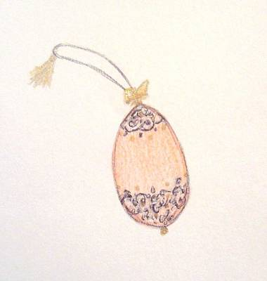 Drawing - Faberge Egg Ornament by Christine Corretti