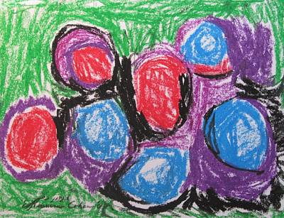 Abstract Expressionism Drawing - Faberge Eggs by Esther Newman-Cohen