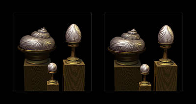 Faberge Style White Gold 3d Art Print