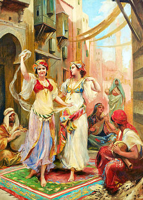Painting - Fabio Fabbi Harem Dancing by Munir Alawi