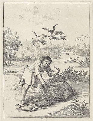 Stork Drawing - Fable Of The Farmer And The Stork, Print Maker Dirk Stoop by Artokoloro