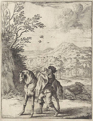 Dirk Drawing - Fable Of The Horse And The Mule, Dirk Stoop by Dirk Stoop And John Ogilby