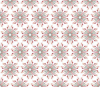 Chaos Maze Digital Art - Fabric Arrows Flowers by Jozef Jankola