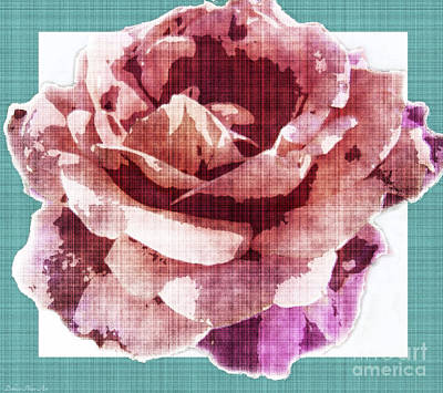 Photograph - Fabric Rose Perhaps by Debbie Portwood