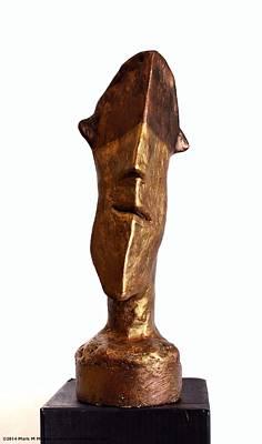 Fabulas Bronze And Gold Idol Art Print by Mark M  Mellon