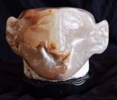 Stone Carving Sculpture - Fabulas Comus by Mark M  Mellon