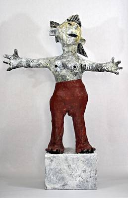 Primitive Mixed Media - Fabulas Freedom  by Mark M  Mellon