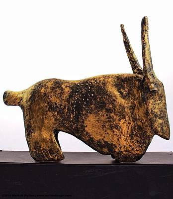 Fabulas Gold Taurus  Art Print by Mark M  Mellon