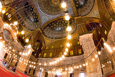 Photograph - Fabulous Ceiling Of The Mosque Of Muhammad Ali by Mark E Tisdale