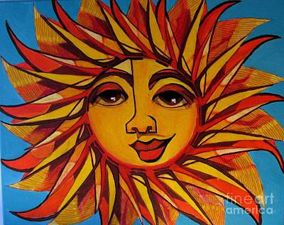 Painting - Fabulous Fanny - Here Comes The Sun by Grace Liberator