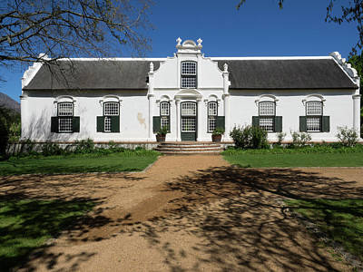Municipality Photograph - Facade Of A Building, Boschendal, Cape by Panoramic Images