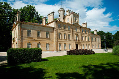 Chateau Photograph - Facade Of A Building, Chateau Davignon by Panoramic Images