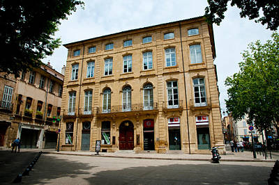 Provence Photograph - Facade Of A Building, Place Forbin by Panoramic Images