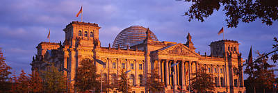 Berlin Photograph - Facade Of A Building, The Reichstag by Panoramic Images