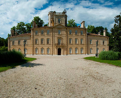 Chateau Photograph - Facade Of A Castle, Chateau Davignon by Panoramic Images