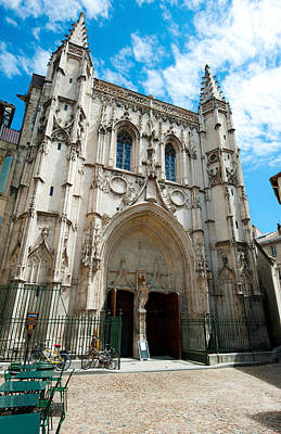 Pierre Photograph - Facade Of A Church, Place Saint Pierre by Panoramic Images