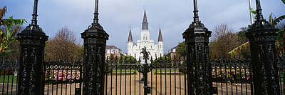 New Orleans Jackson Square Photograph - Facade Of A Church, St. Louis by Panoramic Images
