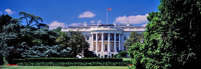 White House Photograph - Facade Of A Government Building, White by Panoramic Images