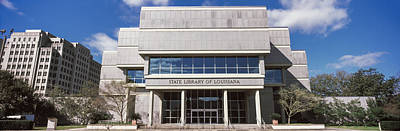 Louisiana Photograph - Facade Of A Library, State Library by Panoramic Images