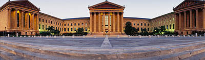 Facade Of A Museum, Philadelphia Museum Art Print by Panoramic Images