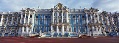 Facade Of A Palace, Catherine Palace Art Print by Panoramic Images
