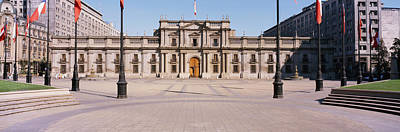 Flagpole Photograph - Facade Of A Palace, Plaza De La Moneda by Panoramic Images